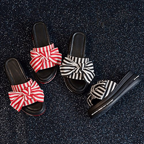 5 Sandals Fashion Female 4 Wear Summer Sports Red Slippers Size RED Color Shoes wZ6qxO