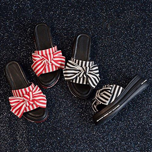 Donna 4 Sportive 5 Red Scarpe Abbigliamento Pantofole colore Dimensioni Red Sandali Estate Moda 5agxwq