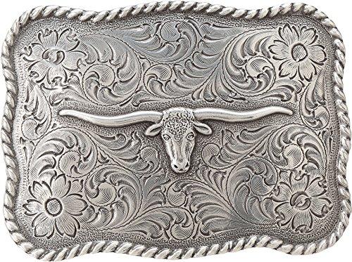 Mens Silver Belt Buckles (Nocona Men's Longhorn Belt Buckle Silver One)