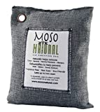 Moso Natural Air Purifying Bag 600-Grams. Natural Odor Eliminator. Fragrance Free, Chemical Free, Odor Absorber. Captures and Eliminates Odors. Charcoal Color