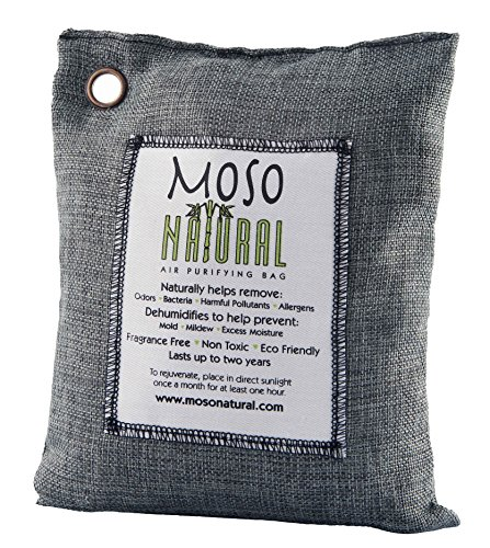 Moso Natural Air Purifying Bag 500-Grams. Natural Odor Eliminator. Fragrance Free, Chemical...
