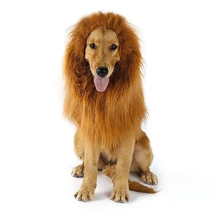 Peluca de León Para Perro Gato Cachorro Mascotas Ropa Sombrero Dress Disfraces Costume Para Navidad Fiesta Cosplay Traje León Crin Peluca de Perro Pet ...