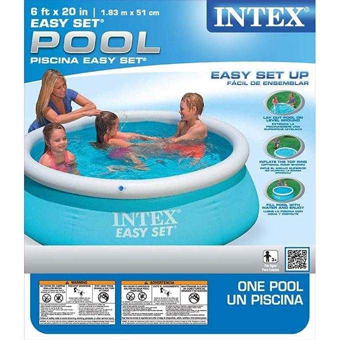 Amazon.com: Piscina inflable Intex de 6 x 20 pulgadas con ...