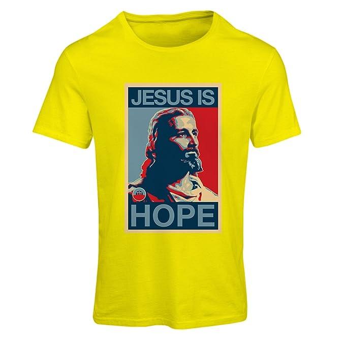 Camiseta Mujer Jesús es Esperanza! Religión - Camisa de la resurrección - Ideas cristianas del Regalo, Ropa Religiosa: Amazon.es: Ropa y accesorios
