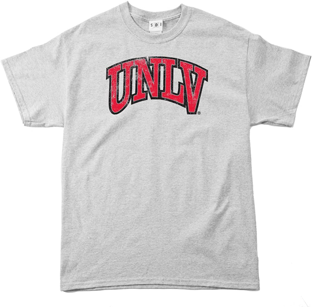 NCAA UNLV Rebels 100-Percent Pre-Shrunk Vintage Arch Short Sleeve Tee