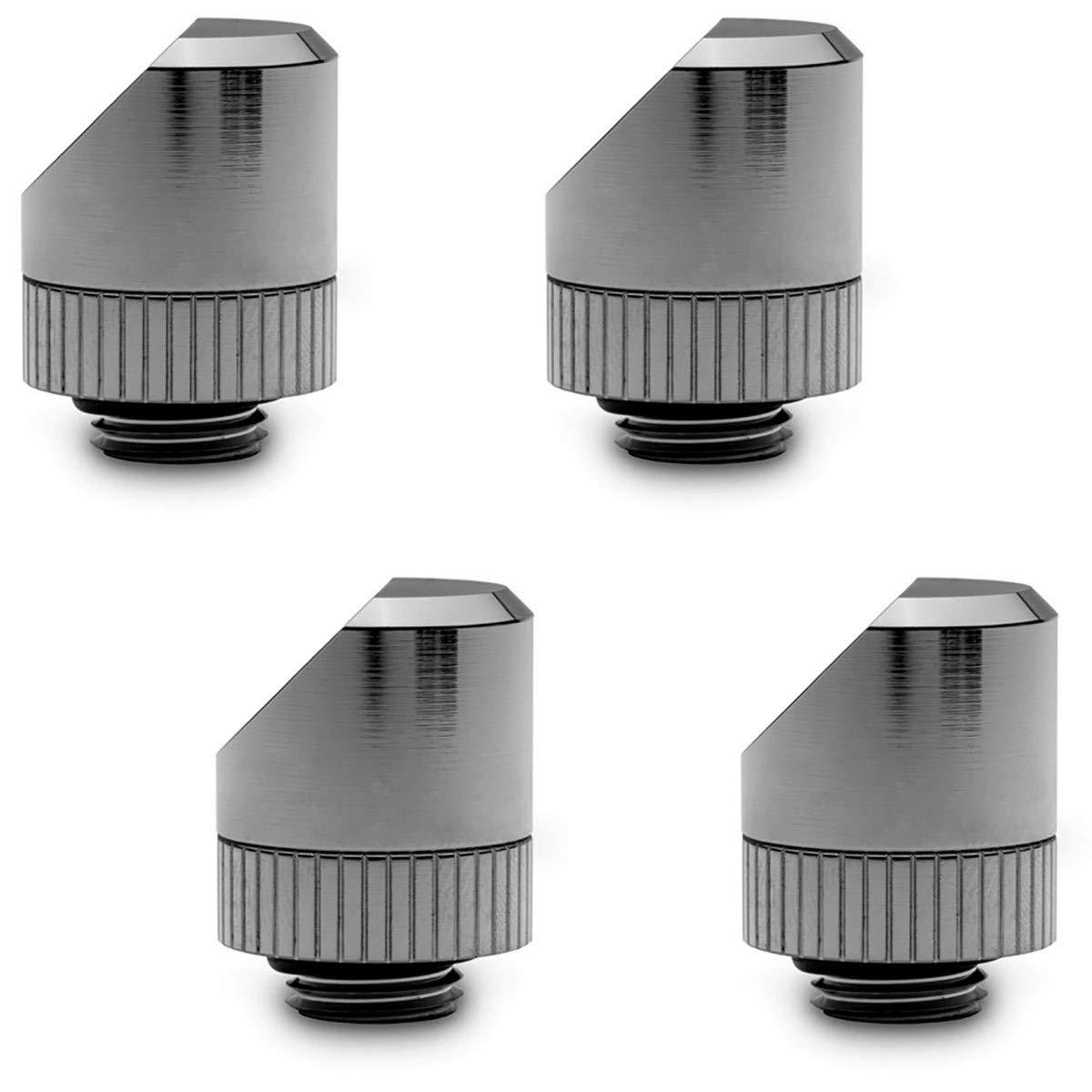 EKWB EK-Torque 45° Angled Fitting, Black Nickel, 4-Pack