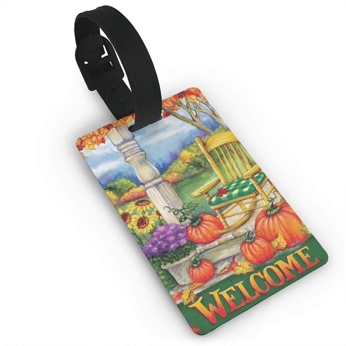 Easter Squash Luggage Tags Bag Travel Labels For Baggage Suitcase