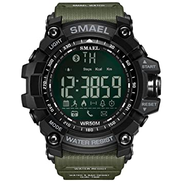 Relojes deportivos Reloj inteligente Bluetooth Mens Analógico Podómetro digital Cronómetro cronómetro Cronógrafo Alarma Calendario Luminoso Android y iOS ...