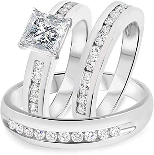 Amazon Com Discounthouse4you His And Hers Wedding Rings Set For