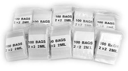 Amazoncom Mini Zip Lock Bags X Inch 1000 Bags 1 X 1 Inch