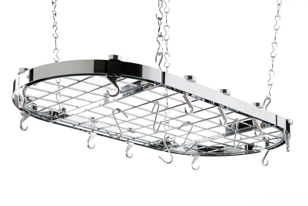 Hängeregal decke  Hahn Trading 40801 Premium Decken-Hängeregal, groß, oval, chorm ...