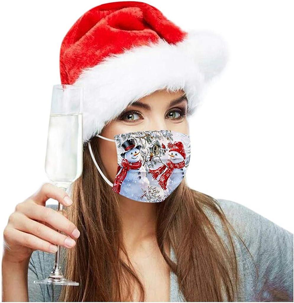 HuaMore 20 St/ücke Weihnachten Drucken Mundschutz Schneemann Austauschbar Farbe Kopfbedeckung