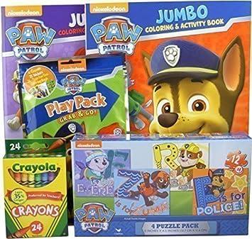 Amazon.com: Bundle - 5 Items: Nickelodeon Paw Patrol 4-puzzle Pack ...