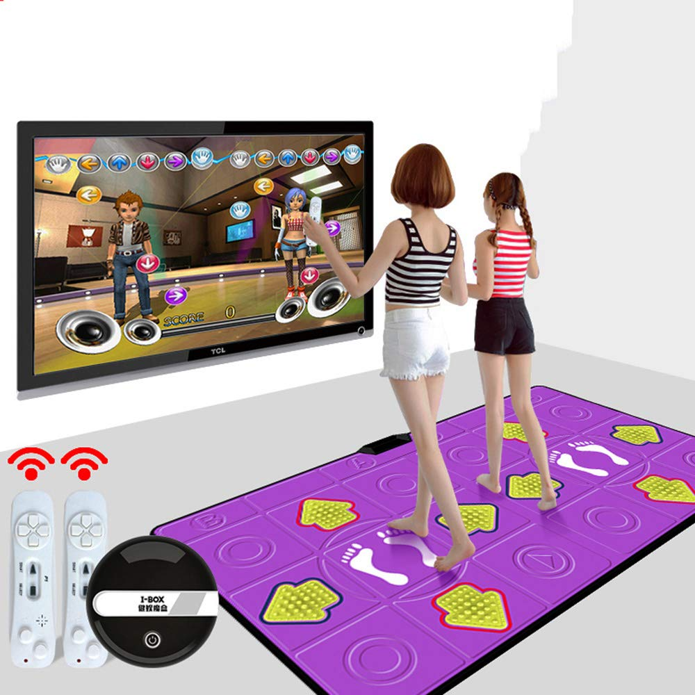 Dance mat Double Hd Game Console Child Adult Weight Loss Machine Pu Material 3D Picture, Silicone Massage Non-Slip, Family Game by Dance mat (Image #1)