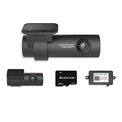 Blackvue DR750S-2CH with Power Magic Pro Hardwiring Kit 2-Channel 1080P Full HD Car DVR Recorder   64GB SD Card Included