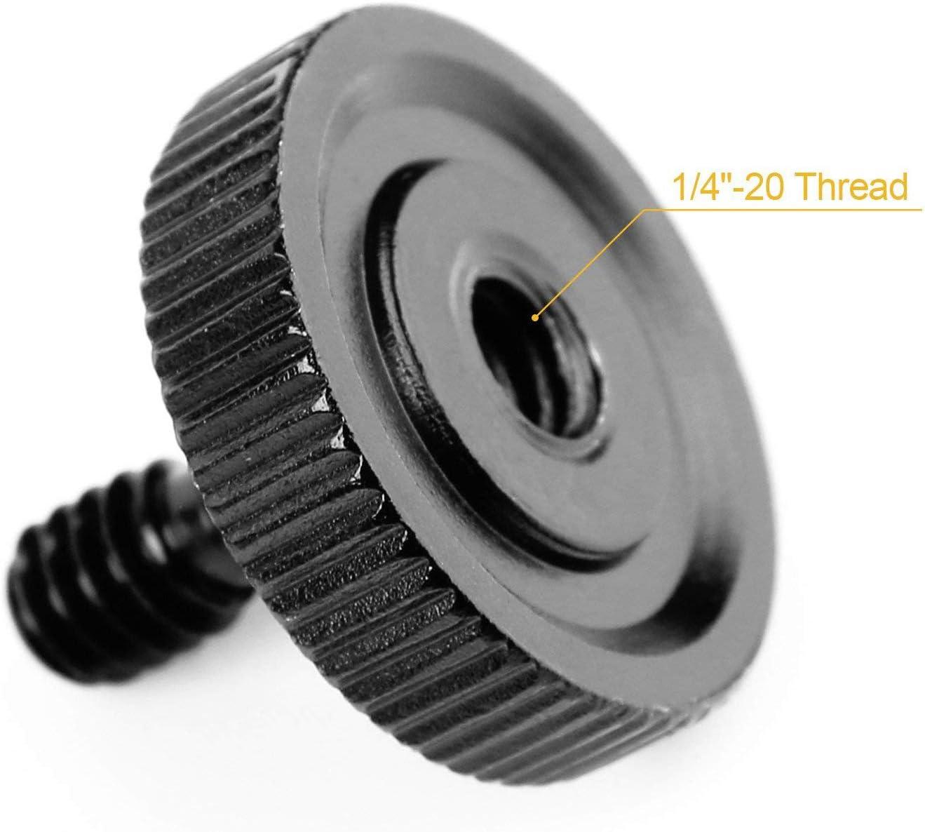 20mm Daumen Schraube Kamera Schnellspanner 1//4/'/' Halterung Aluminiumlegierung
