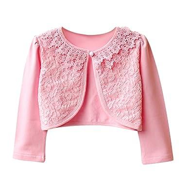 ff12ff376ff1 Amazon.com  Verypoppa Little Girls Bolero Jackets Lace Patchwork ...