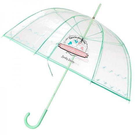 Paraguas burbuja transparente con frases tipo Wonder