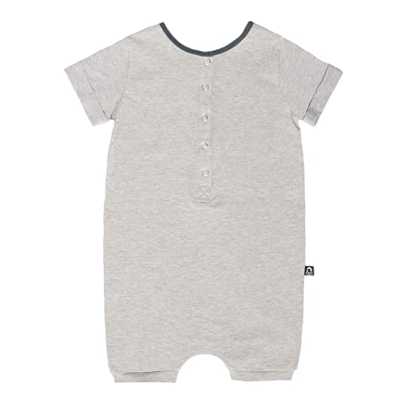 Rags Unisex Kids Romper Essentials Short Sleeve Henley Shorts Romper
