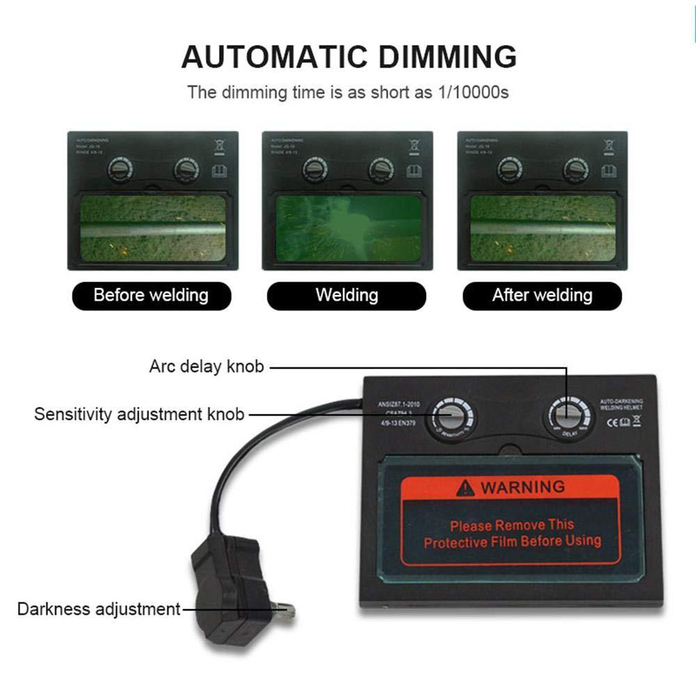 Amazon.com: FOONEE Welding Helmet, Solar Powered Auto Darkening ...