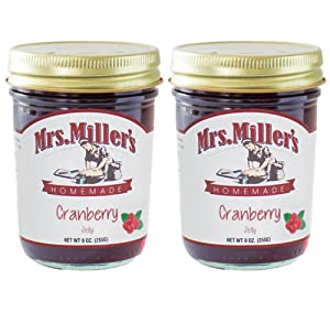 Mrs. Miller's Homemade Cranberry Jelly 9 Ounces - Pack of 2