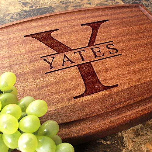 (Personalized Cutting Board Arched, Custom Keepsake, Engraved Serving Cheese Plate, Wedding, Anniversary, Engagement, Housewarming, Birthday, Corporate, Closing Gift #201 )