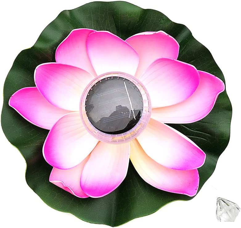 Lotus Light,Sundlight Floating Pond Decor Solar Lotus Flower LED Color-changing Flower Night Lamp Lights for Pool Party Garden House Wedding Christmas Decor
