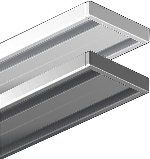 weiß für Flächenvorhänge 2-Lauf 300 cm Aluminium Gardinenschiene