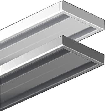 Garduna 120cm Silber Gardinenschiene Vorhangschiene Aluminium