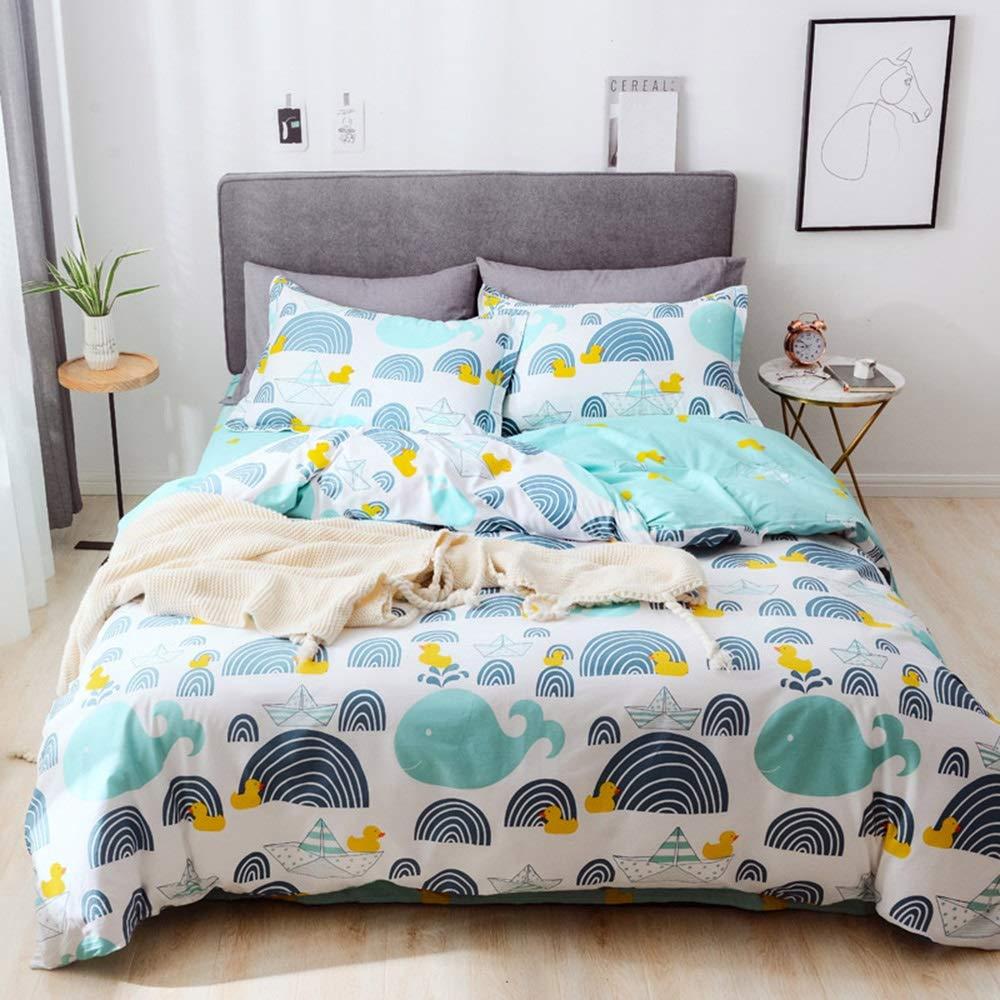 CSYP 綿4ピースのシンプルな春新しい綿の小さな新鮮な寝具シーツキルトカバーキット (Color : Brass) B07Q7H1XRZ