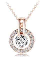 RICISUNG Crystal Necklace Pendant,Necklace, Gifts for Women Pendant Necklace Jewelry