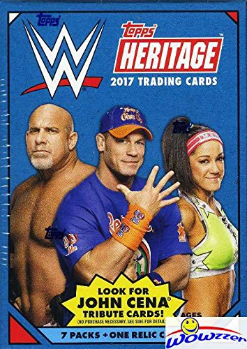 Kiss Card (2017 Topps WWE Heritage Wrestling EXCLUSIVE Factory Sealed Retail Box with 7 Packs, RELIC Card & JON CENA Tribute Card! Look for Cards, Autographs & Relics of Sting, Jon Cena, Triple H & Many More!)