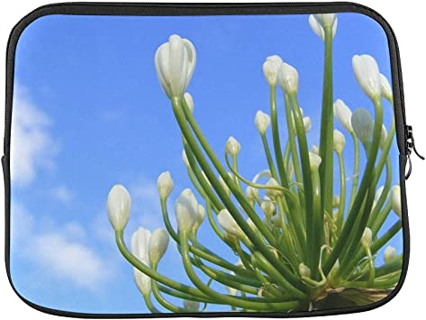 Lily of The Nile on a Laptop Sleeve Neoprene Laptop Sleeve Case Cover 15 13 10 17 Laptop Sleeve 12