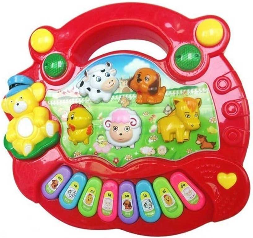 ZREAL Bebé Niños Musical Piano Educativo Granja de Animales Granja de Juguetes de Música para Niños Regalo