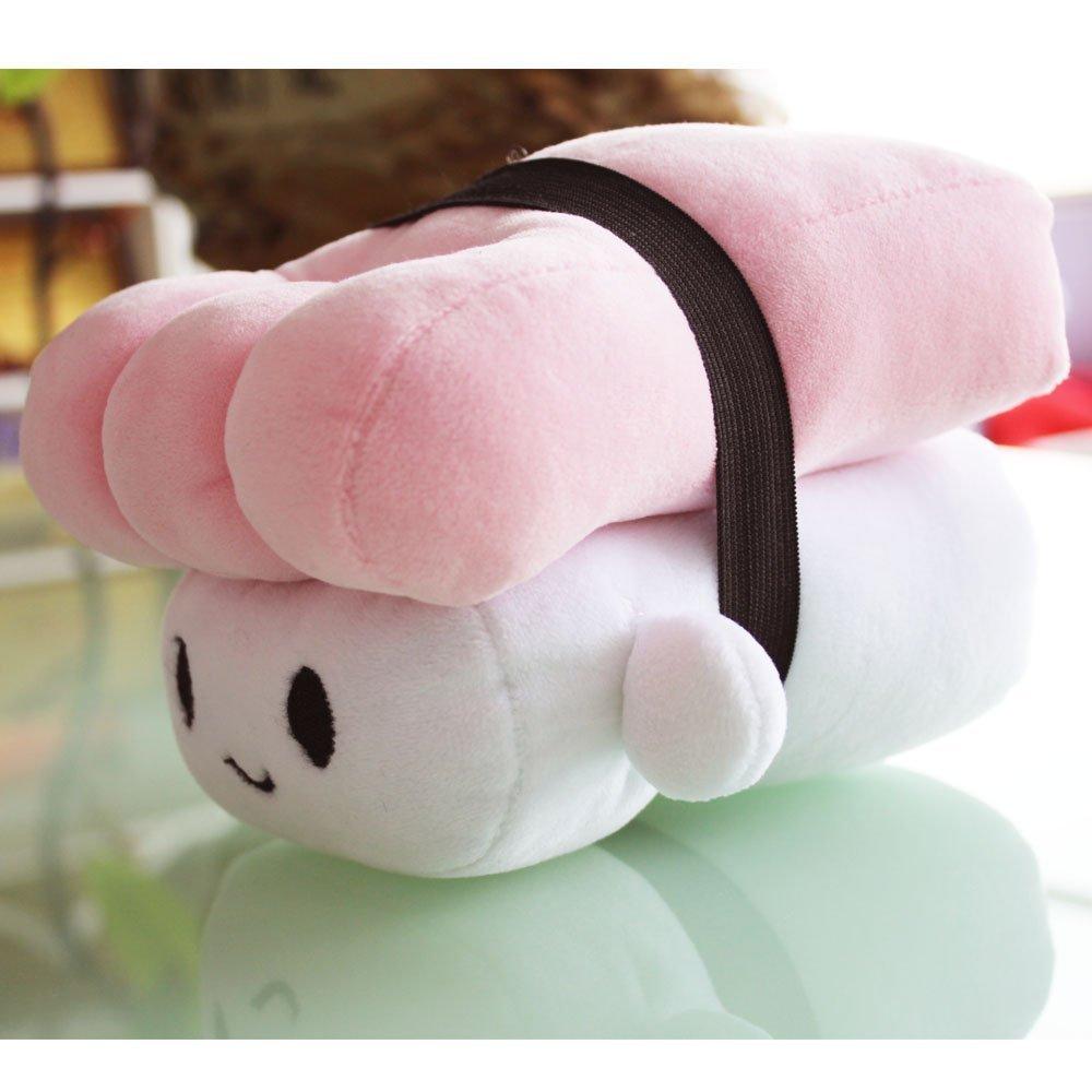 Japanese Food sushi food pillows plush toy sleeping pillow Salmon/Egg/Tuna home decoration (Pink) by KiKi Monkey