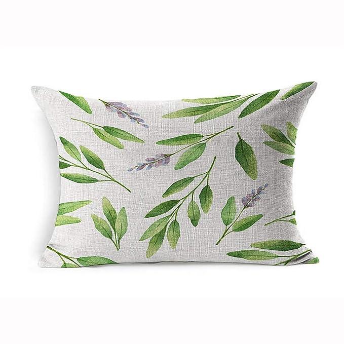 Ahawoso Funda de almohada de lino 20 x 26 pulgadas, diseño de ...