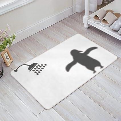 SIMIGREE Funny Showering Penguin Door Mats Kitchen