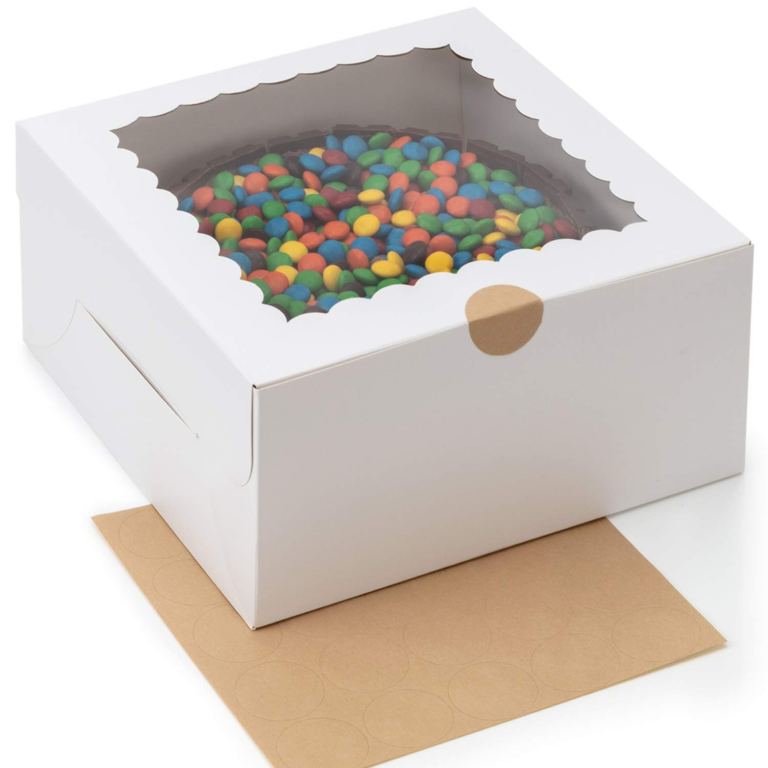 [25-Pack] White Cake Boxes 10 x 10 x 5