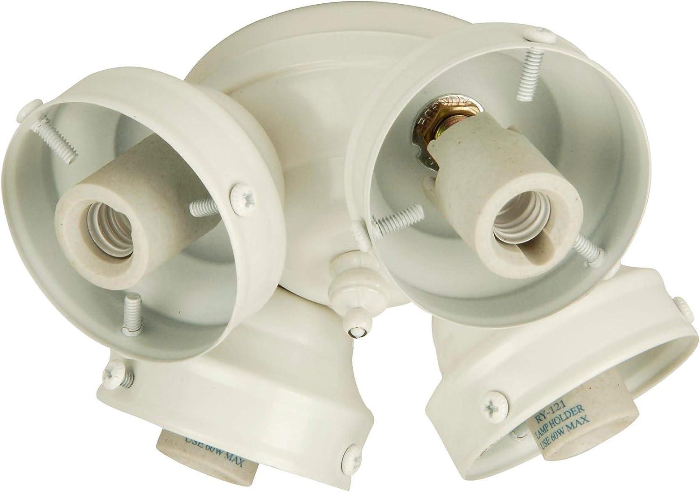 Craftmade F405l W Ceiling Fan Fitter 4 Light 160 Total Watts White Ceiling Fan Light Kits Amazon Com