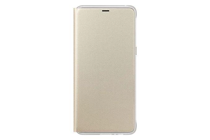 super popular fa6bc cc7c9 Official Samsung Galaxy A8+ 2018 Neon Flip Case - Protective Cover (Gold)