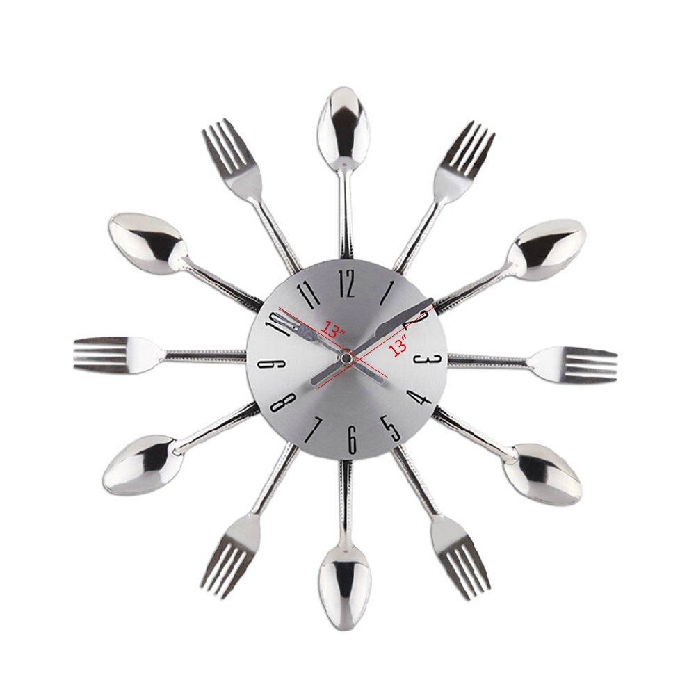 Design moderne argenté chendongdong horloge murale de cuisine ...