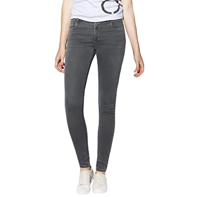 New Products Adidas Neo Super Skinny Jeans Womens Dark Grey Denim Online Shopping