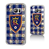 Keyscaper MLS Real Salt Lake Plaid Glitter Case for Galaxy S7, Clear