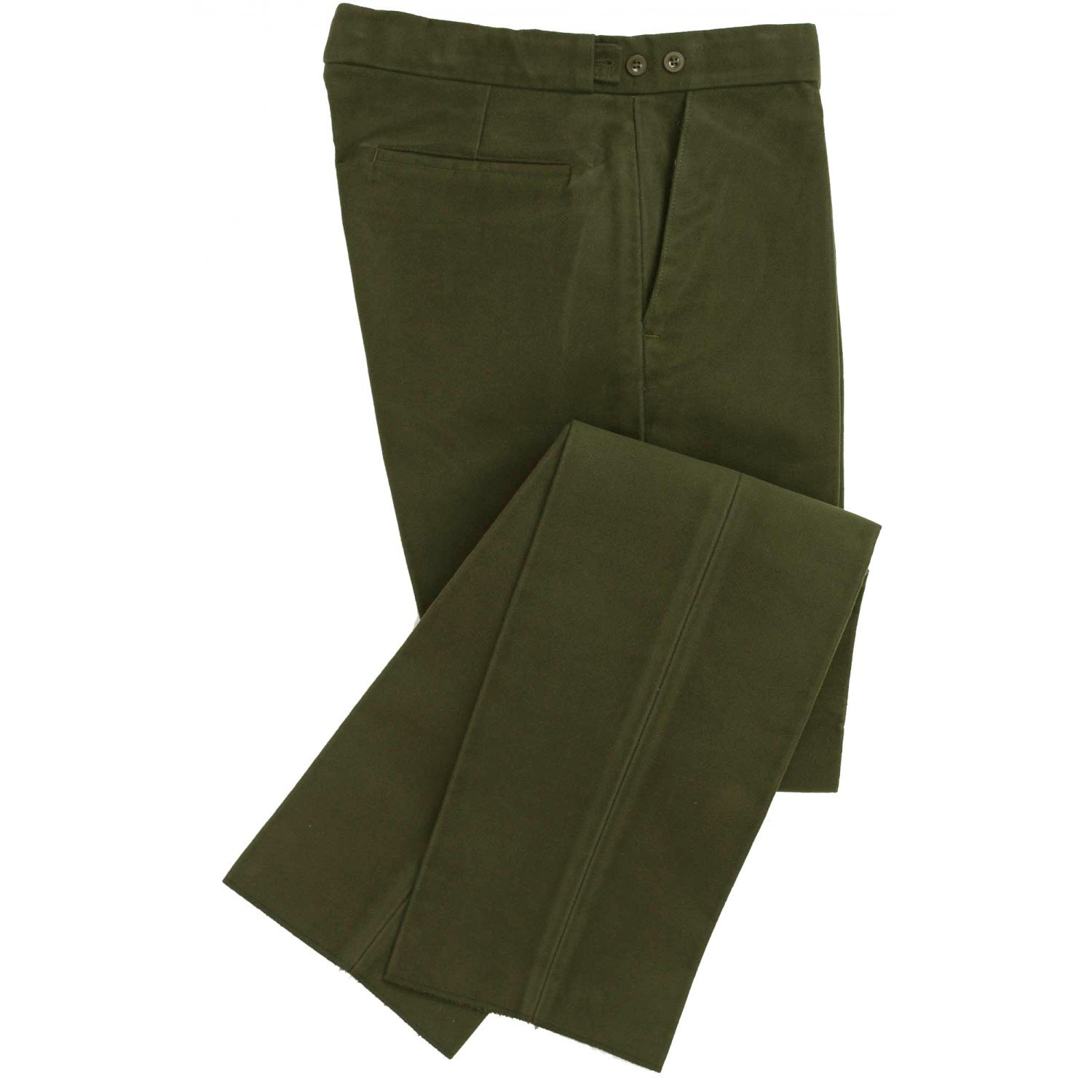 Traditional Shooting Clothing Moleskin Olive Trousers by Wathen Gardiner