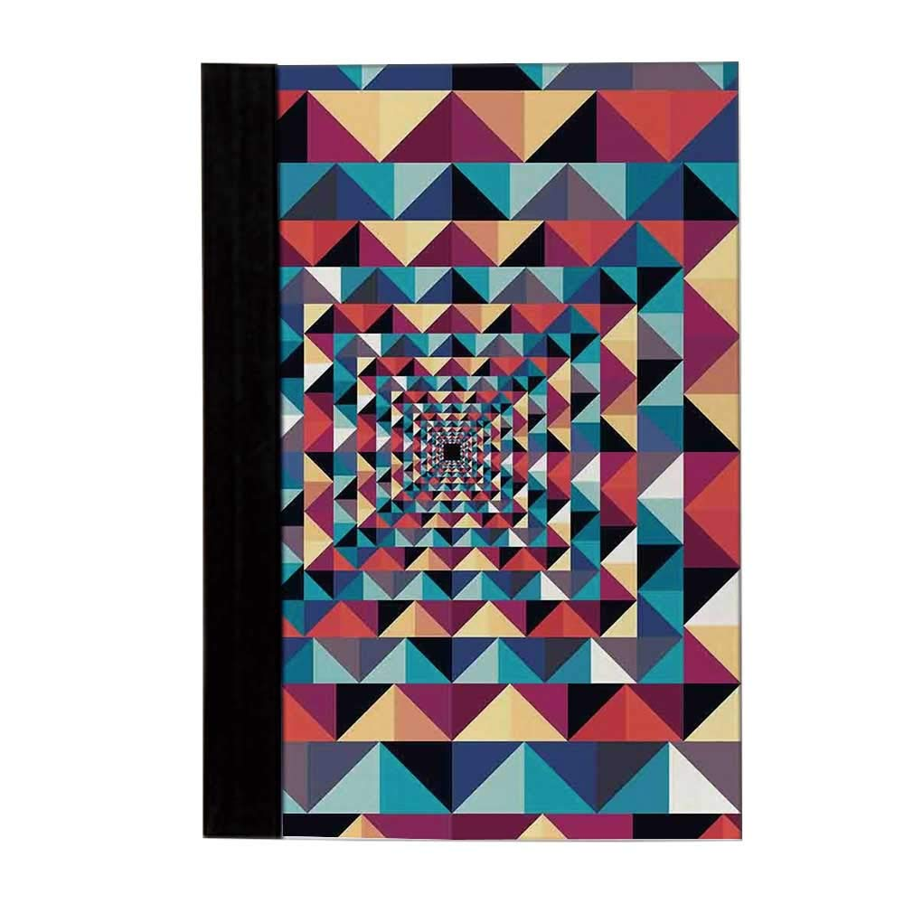 Contemporary Unisex Notebook,Modern Style Visual Patchwork Effect with Colorful Retro Composition Print Diary,8'' L x 5'' W by YOLIYANA