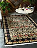 Unique Loom Edinburgh Collection Oriental Traditional French Country Black Area Rug (3' x 5')