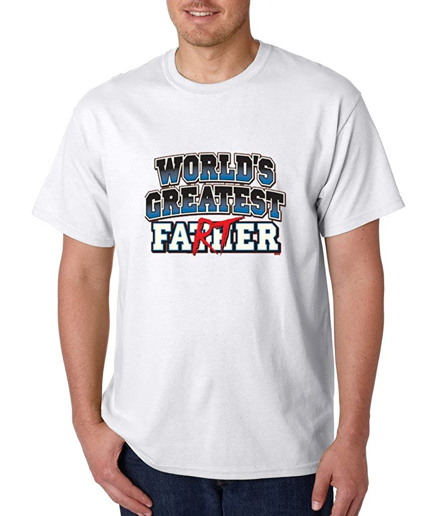 World Greatest Father Farter T-shirt Funny Fathers Day Shirts Large White f19