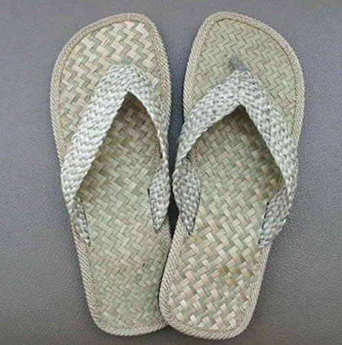 Thai Spa Slippers Resort Sandals Hotel Shoes Size 8-12 Handmade Woven From Sedgemat