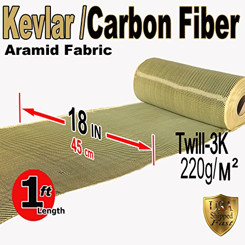 KEVLAR FABRIC-2x2 TWILL WEAVE-3K/200g Kevlar Fabric