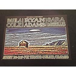 Ryan Adams Rare Fox Theatre Boulder Colorado Limted Ed Concert Tour Gig Poster